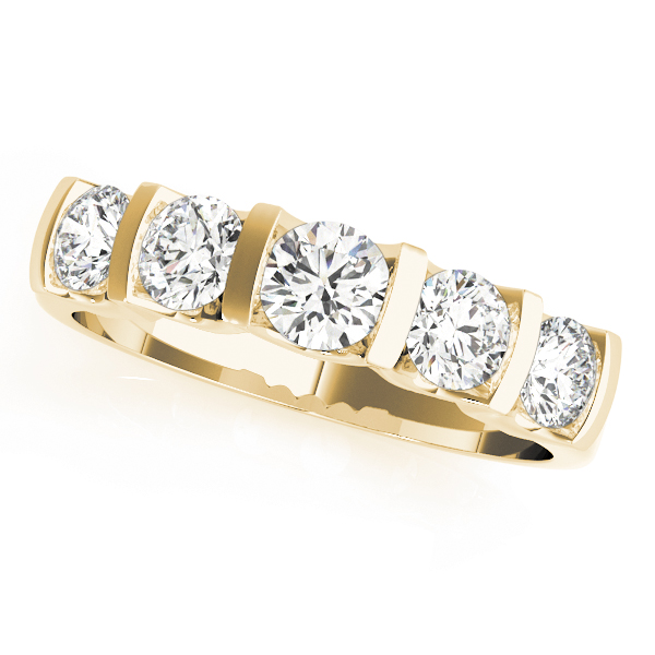 OVNT50267-W 14kt gold WEDDING BANDS BAR SET