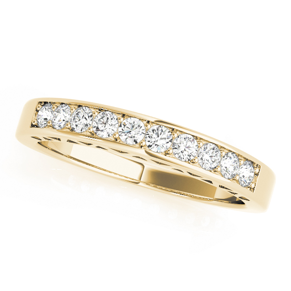 OVNT 50295-W 14kt gold WEDDING BANDS CHANNEL SET