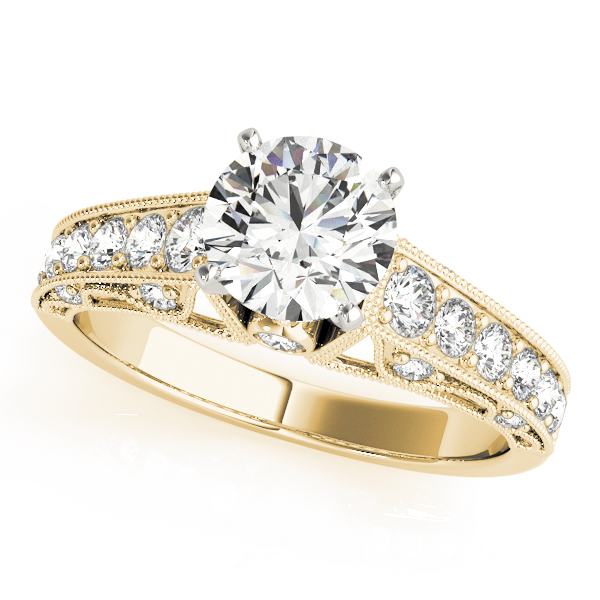 OVNT 50605-E 14kt gold Engagement Rings ANTIQUE