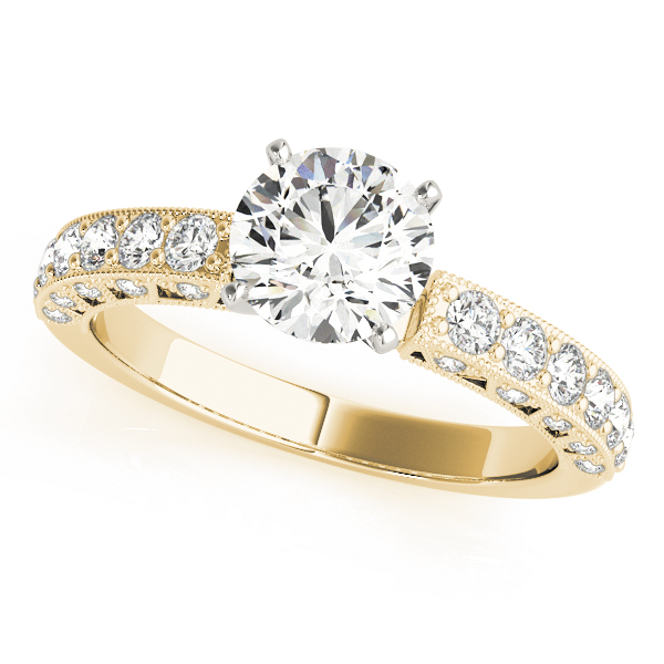 OVNT 50611-E 14kt gold Engagement Rings ANTIQUE