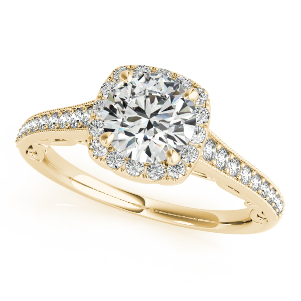 OVNT50854-E 14kt gold Engagement Rings HALO