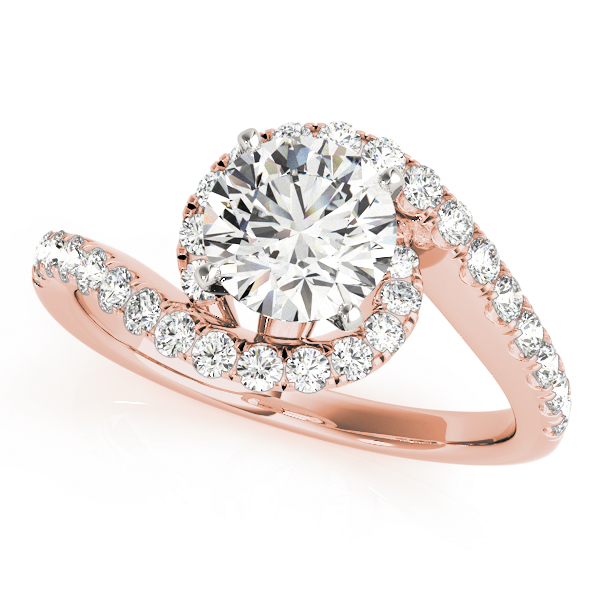 OVNT 50866-E 14kt gold Engagement Rings BYPASS