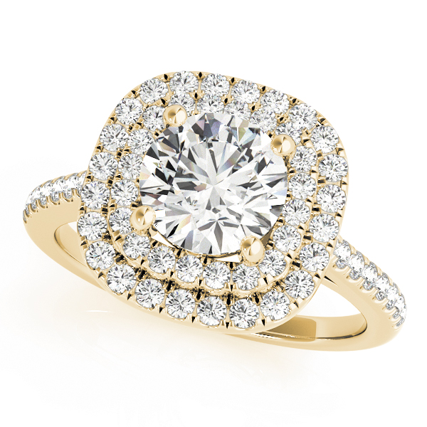 OVNT 50984-E 14kt gold Halo engagement ring
