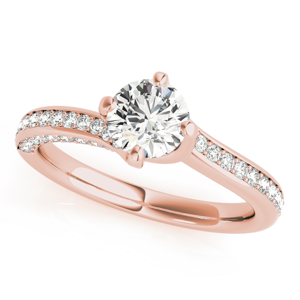 OVNT 51038-E 14kt gold Engagement Rings BYPASS