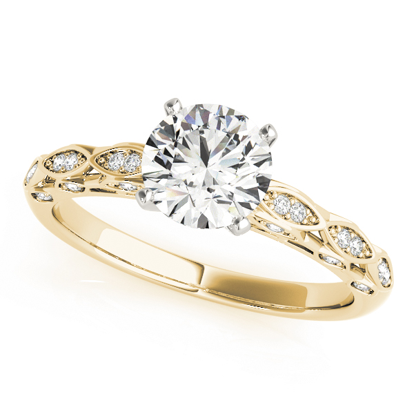 OVNT 51044-E 14kt gold Engagement Rings ANTIQUE