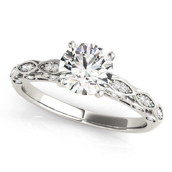 OVNT 51044-E 14kt gold Engagement Rings ANTIQUE