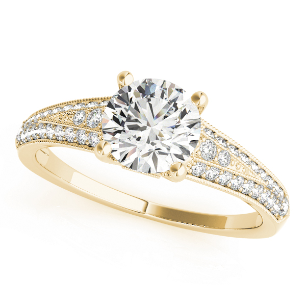 OVNT 51060-E 14kt gold Engagement Rings ANTIQUE
