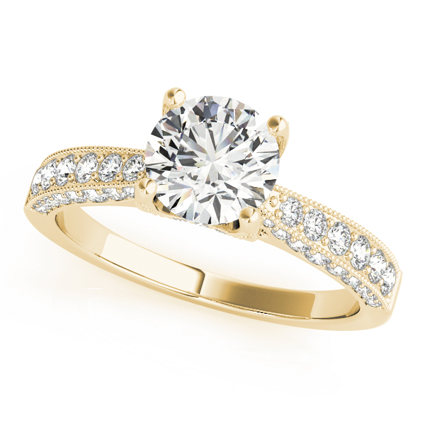 OVNT 51061-E 14kt gold Engagement Rings ANTIQUE