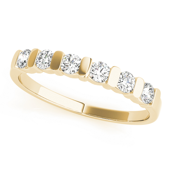 OVNT80073-1/3 14kt gold WEDDING BANDS BAR SET