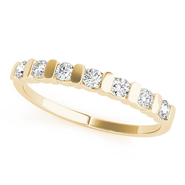 OVNT 80094-1/4 14kt gold WEDDING BANDS BAR SET