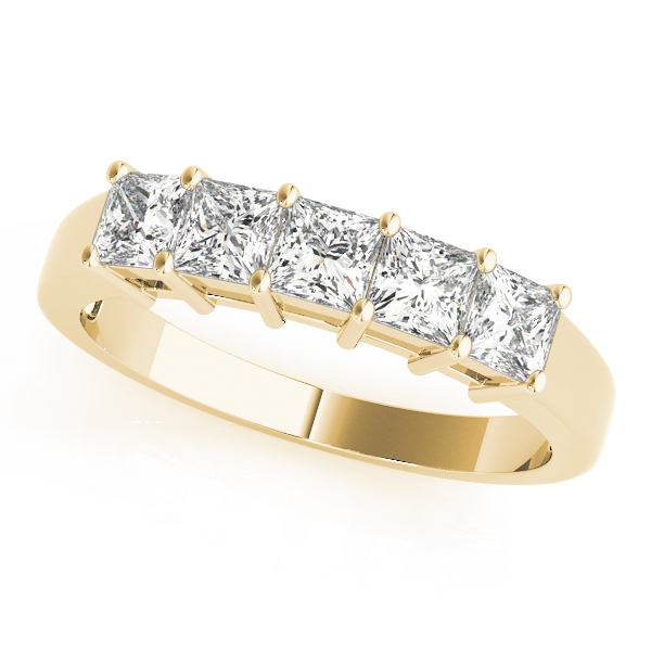 OVNT 80650 14kt gold WEDDING BANDS FANCY SHAPE PRINCESS CUT