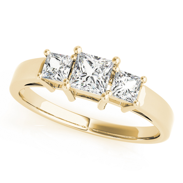 OVNT 81172 14kt gold Engagement Rings 3 STONE
