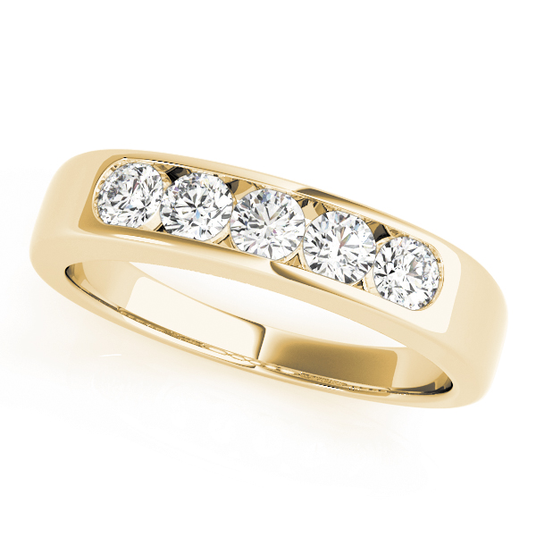OVNT81447-1 14kt gold WEDDING BANDS CHANNEL SET