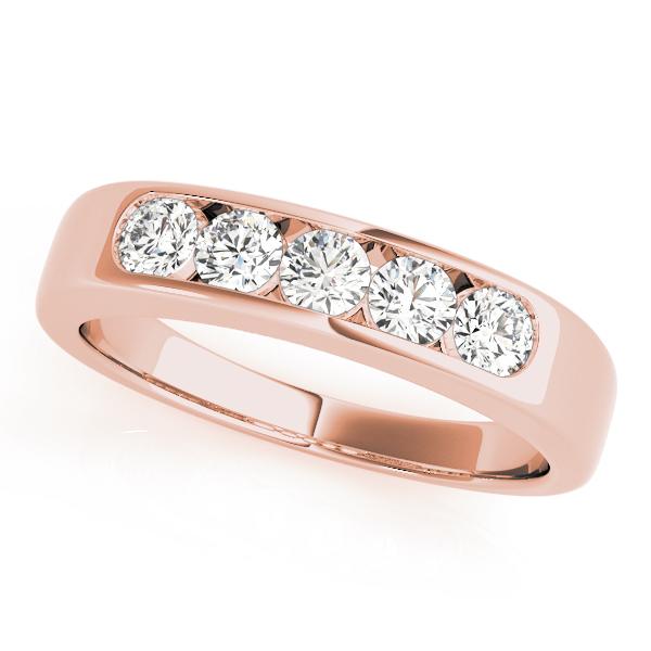 OVNT81447-1 14kt gold WEDDING BANDS CHANNEL SET