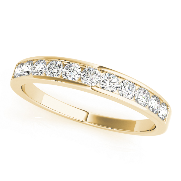OVNT81826-1 14kt gold WEDDING BANDS CHANNEL SET