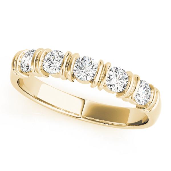 OVNT 82595-3/4 14kt gold WEDDING BANDS BAR SET