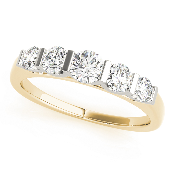 OVNT82761-1 14kt gold WEDDING BANDS BAR SET