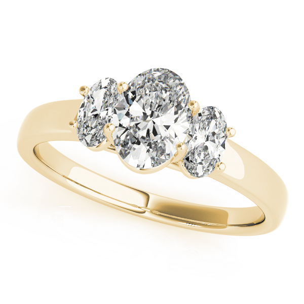 OVNT82943 14kt gold Engagement Rings 3 STONE Oval diamonds