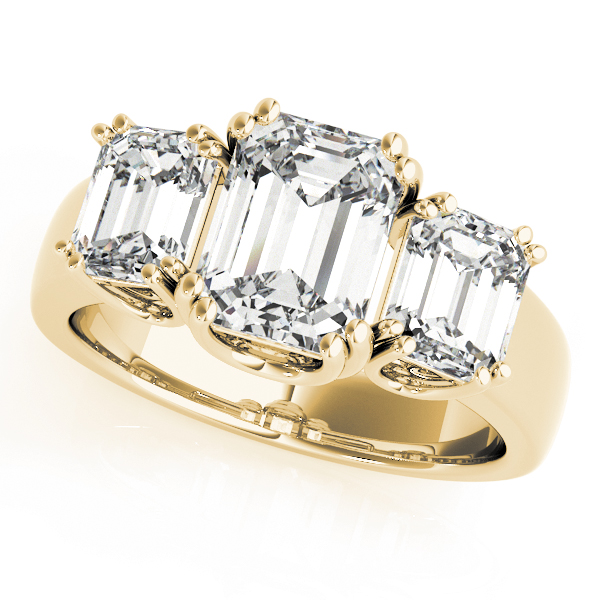 OVNT 83610 14kt gold Engagement Rings 3 STONE