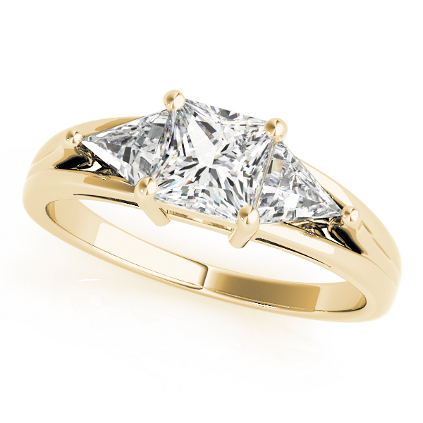 OVNT 83770 14kt gold Engagement Rings 3 STONE