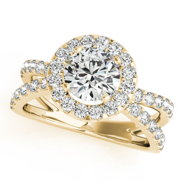 OVNT 84322 14kt gold Engagement Rings HALO