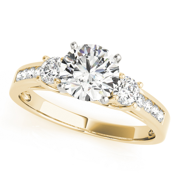 OVNT84363 14kt gold Engagement Rings 3 STONE