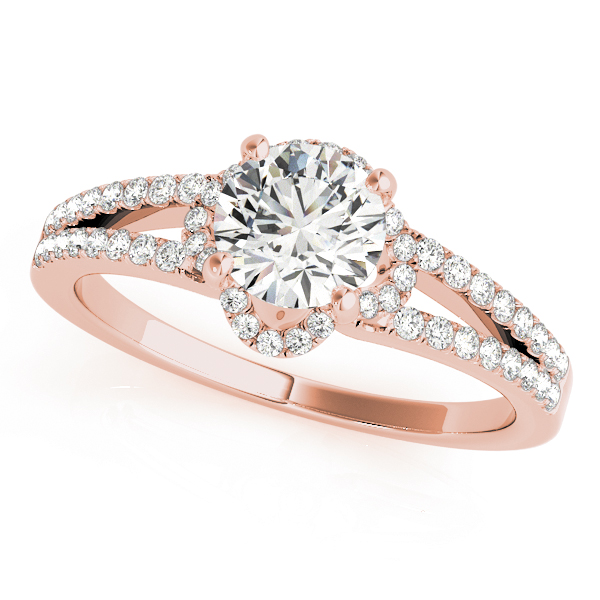 OVNT84818 14kt gold Engagement Rings HALO