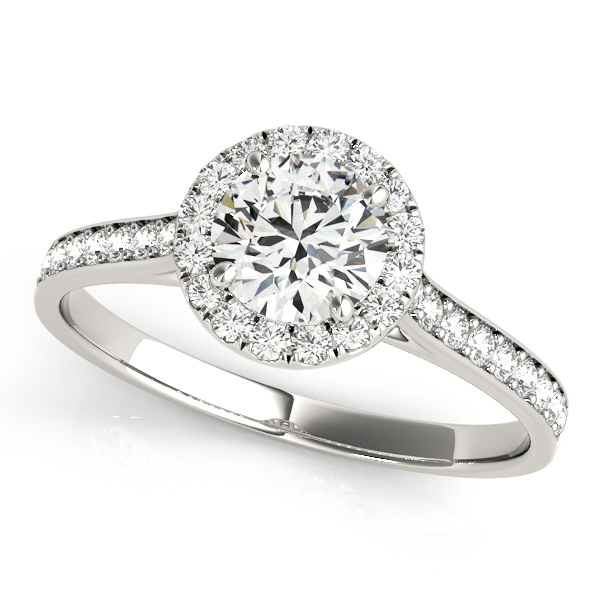 OVNT 84902 14kt gold Engagement Rings HALO