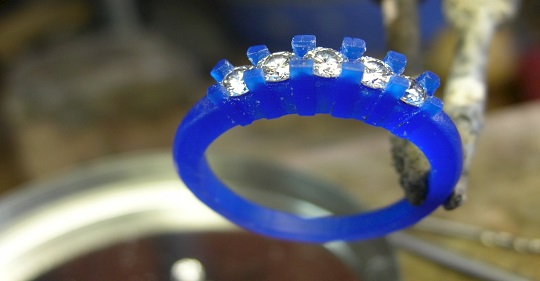 custom diamond wedding band wax model