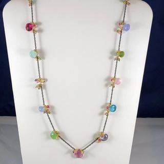 **SOLD** 35' Pastel linked jellybean necklace