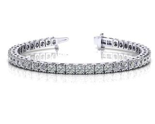 Diamond Tennis bracelet - Different carat weights, color and clarity available. We custom make the bracelets. Our standard is VS clarity and H/I color.