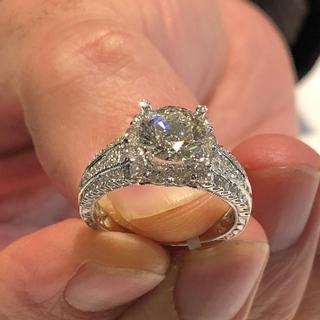 Diamond engagement ring - Semi mount