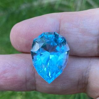 **SOLD**Blue Topaz Precision Cut