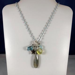 Chalcedony charm necklace from Tashka by Beatrice
