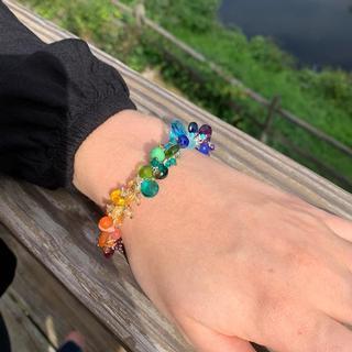 Rainbow jellybean bracelet