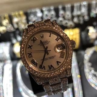 Rolex Watch with Diamonds