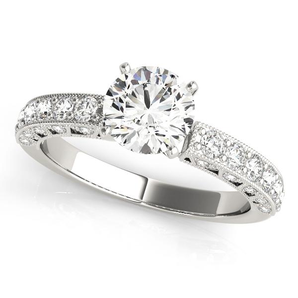OVNT 50611-E 14kt gold Engagement Rings ANTIQUE