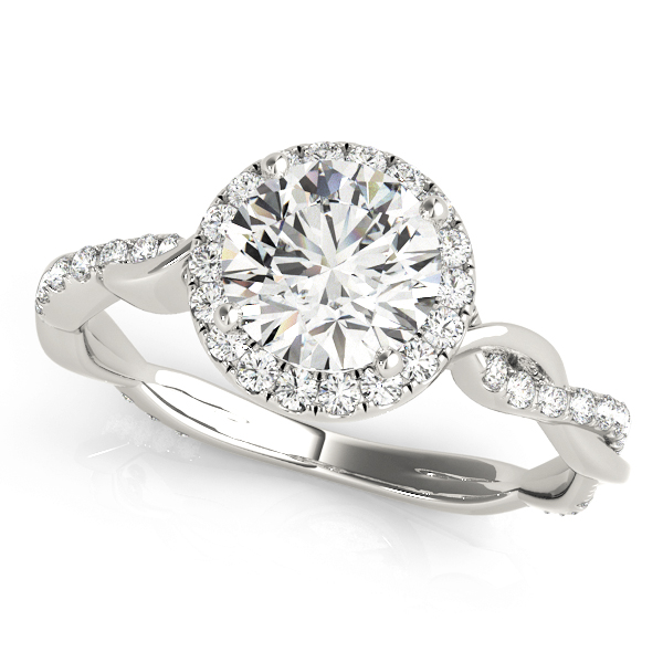 OVNT 50956-E 14kt gold Engagement Rings HALO