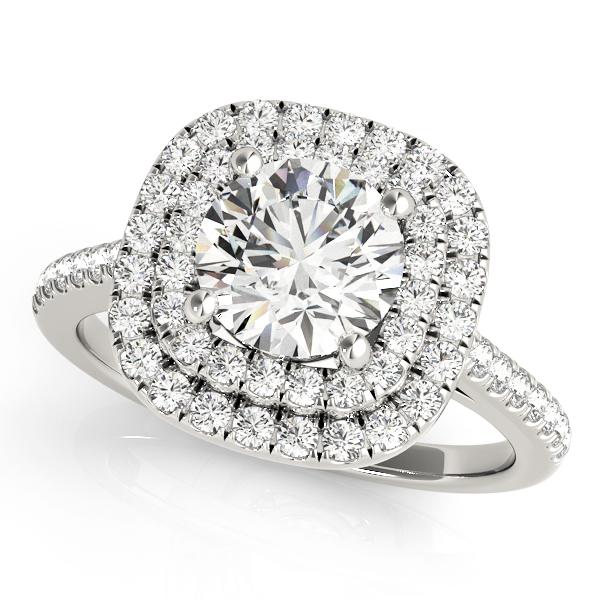 OVNT 50984-E 14kt gold Halo engagement ring
