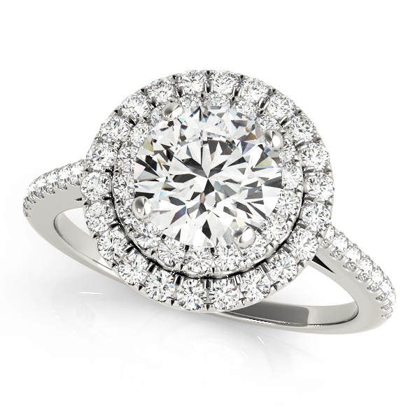 OVNT50986-E 14kt gold Engagement Rings HALO