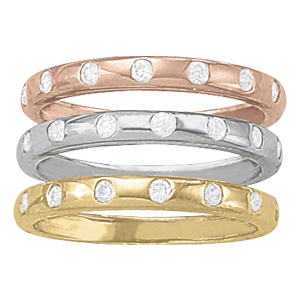 OVNT 83295-W 14kt gold WEDDING BANDS BEZEL SET