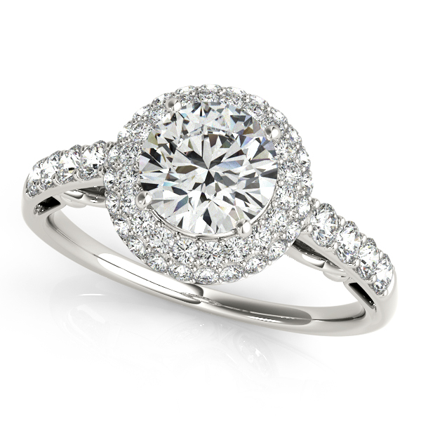OVNT 84677 14kt gold Engagement Rings HALO