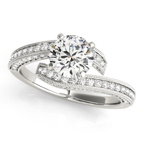 OVNT 84693 14kt gold Engagement Rings BYPASS